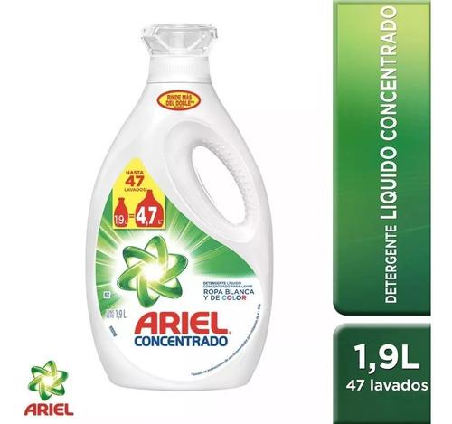 pack 1 detergente ariel 1,9lt + 2 recargas ariel ultra 1,8lt