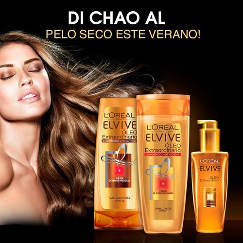 pack 1 shampoo + 1 aco elvive oleo extraordinario l'oréal
