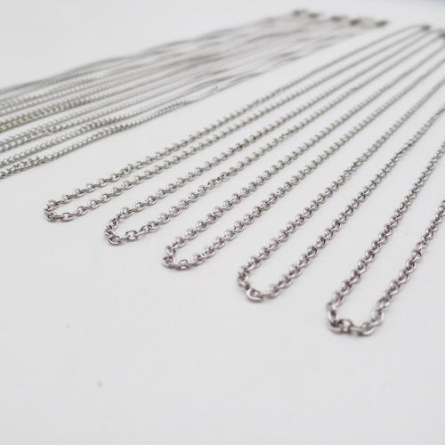 pack 10 cadenas grumet /force 50cm acero quirurgico xmayor