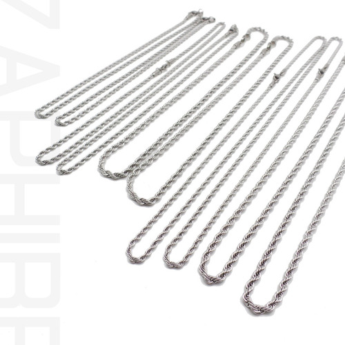 pack 10 cadenas surtidas tourbillon acero quirurgico por mayor