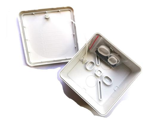 pack 10 cajas estanca ip55 8x8x4.5 (sin conos)