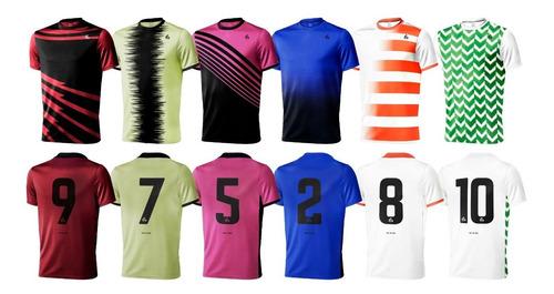 pack 10 camisetas futbol numeradas short y medias gdo sublim