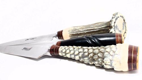 pack 10 cuchillos artesanales tandil 16cm c/vaina