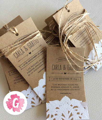 pack 10 etiquetas tag personalizada souvenir madera kraft