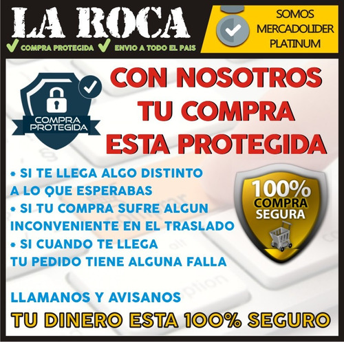pack 10 fichas conector plug metalico 6.5 1/4 trs stereo