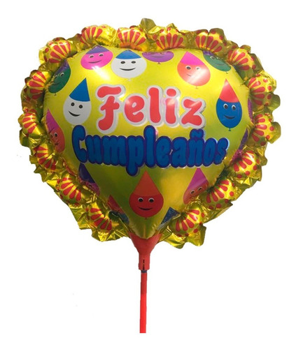 pack 10 globos metalizados pequeños cumpleaños / ekipofertas