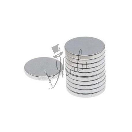 pack 10 imanes de neodimio disco 10mm x 2mm alta potencia
