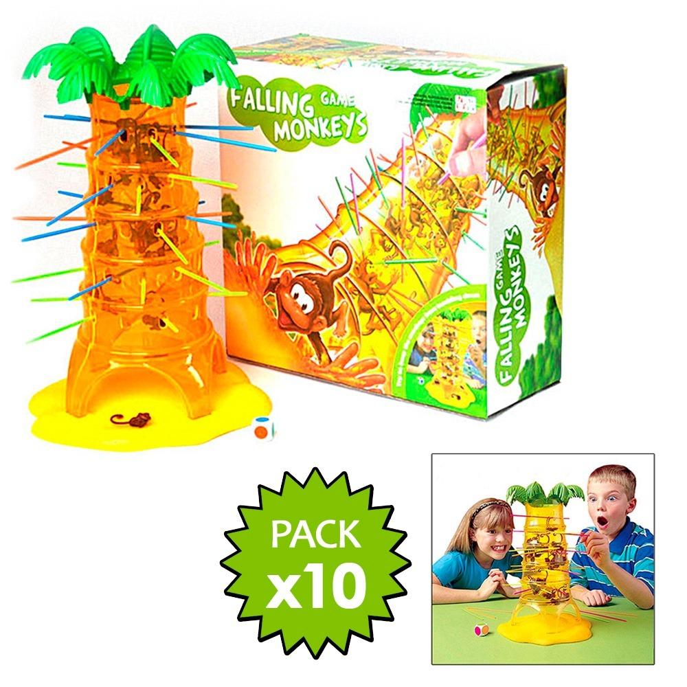 Pack 10 Juegos De Mesa Monos Locos Ninos Didactico 59 990 En