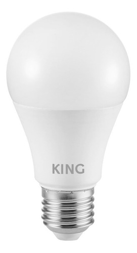 pack 10 king lampara led bulbo a60 - blanco cálido 10w e27