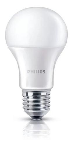 pack 10 lampara led philips e27 6w = 50w rosca comun 220v