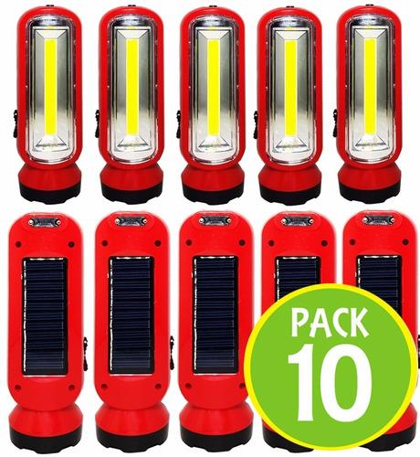 pack 10 lampara linterna emergencia led recargable 12837/ fe