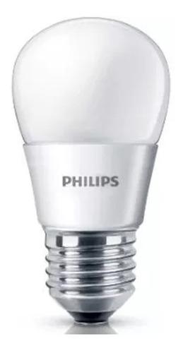 pack 10 lampara philips led bulbo 4w = 40w 220v e27 full