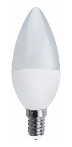 pack 10 lamparas led vela e14 6w 7w 220v frio cálido = 40w