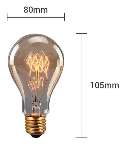 pack 10 lamparas vintage antique filamento dimerizables e27