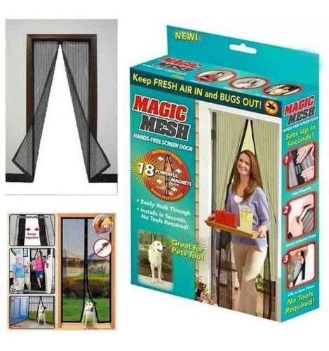 pack 10 mallas magnéticas mosquitera para puerta