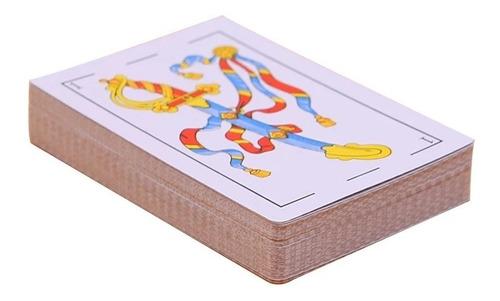 pack 10 naipe español cartón plastificado / 205001