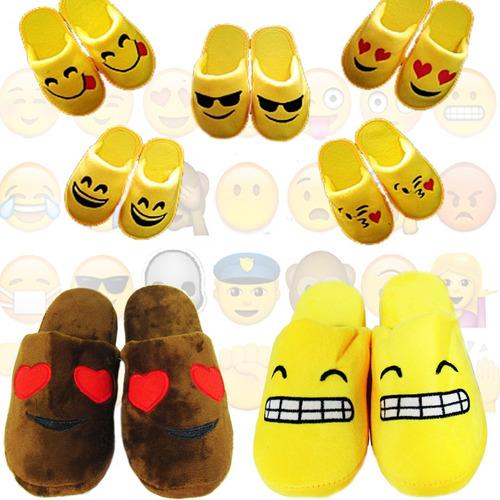 pack 10 pares pantuflas emoticones emoji niños / fernapet
