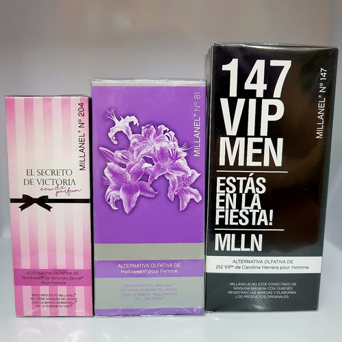 pack 10 perfumes millanel alternativos x60ml + envio y s/int