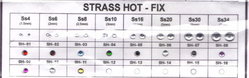 pack 10 planchas x315 u. strass 3mm premium termoadhesivas