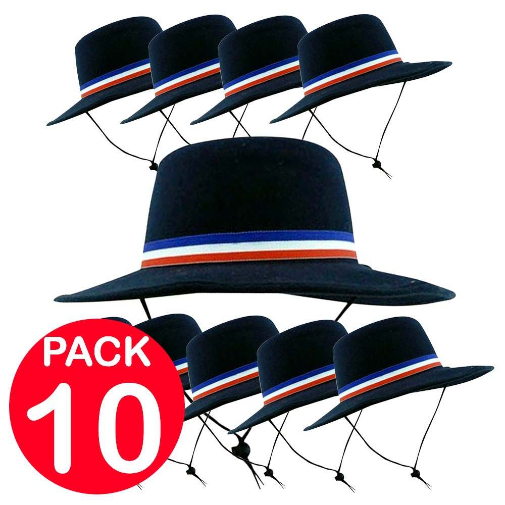 86863ac61a79c Pack 10 Sombreros De Huaso Gorros Negros Cotillon Fiestaclub ...