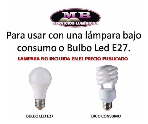 pack 10 spot embutir e265 platil e27 apto lampara led candil trompa. luz led bajo consumo