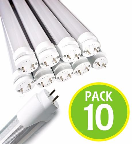pack 10 tubo led 18w 120cm cubierta opalina 85323 / fernapet