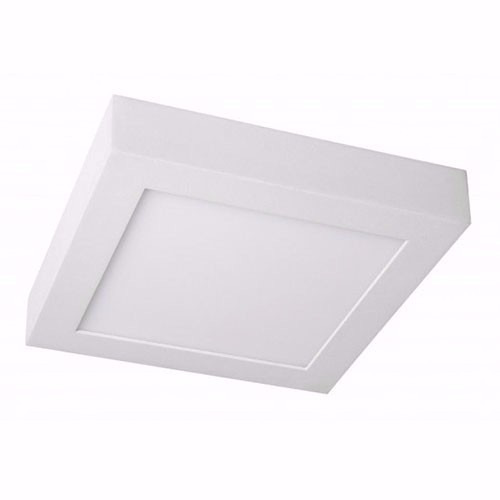 pack 10 unidades panel plafon led cuadrado 18w ext calido