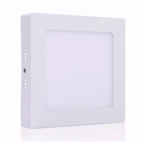 pack 10 unidades panel plafon led cuadrado 18w ext frio