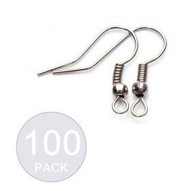 Pack 100 Ganchos Para Aros Acero / Todojoyas