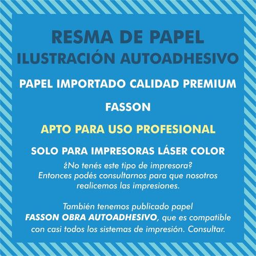 pack 100 hojas autoadhesivas a3 brillante gloss laser