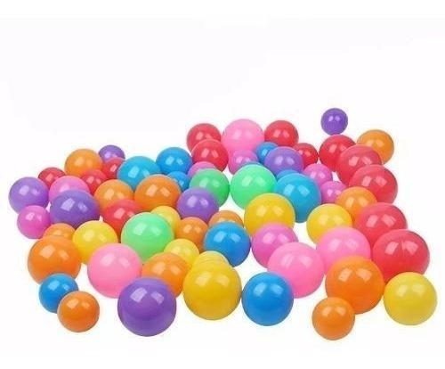 pack 100 pelotas plásticas para piscina colores / lhua store