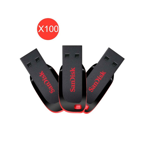 pack 100 pendrive sandisk 64gb usb 2.0 cruzer blade
