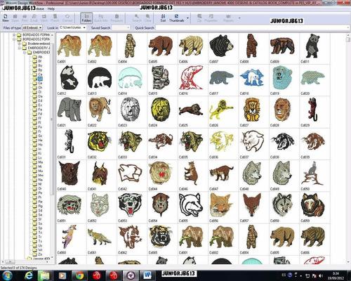 pack 100.000 diseños para bordar wilcom bordados + regalo