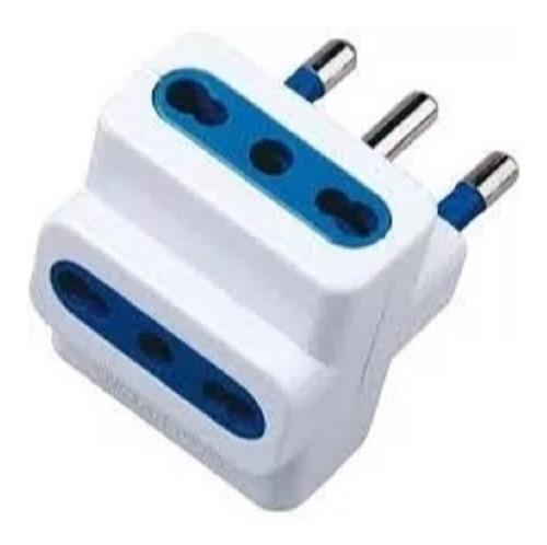 pack 12 adaptador enchufe triple blanco ladrón de corriente