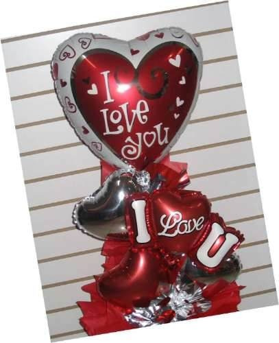 pack 12 globos metalicos corazon inflables amor grandes