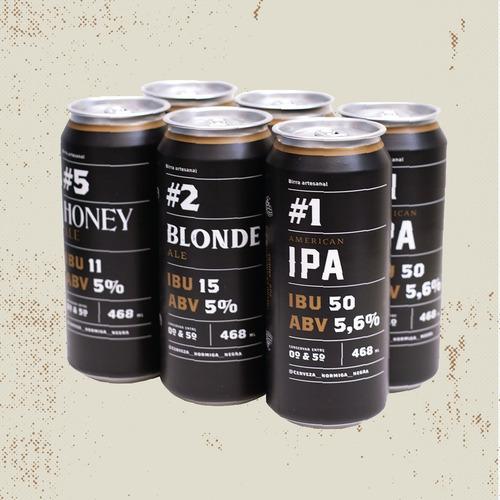 pack 12 latas cerveza artesanal hormiga negra (473ml)