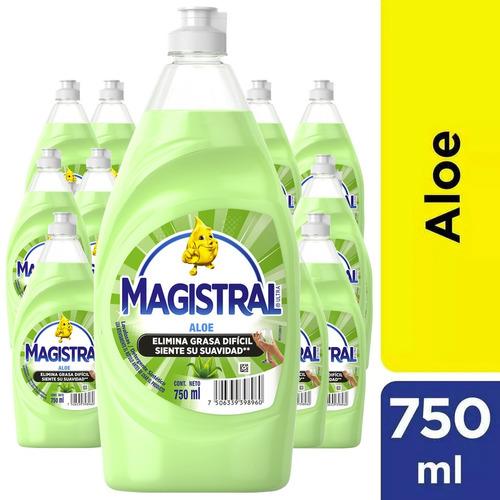 pack 12 lavaloza concentrado magistral aloe 750 ml