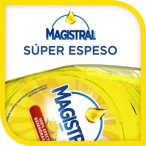 pack 12 lavaloza concentrado magistral limón 500 ml