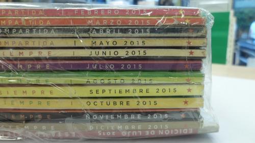 pack 12 revistas selecciones año 2015 (usado) mn#2061