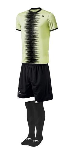 pack 14 camisetas futbol numeradas short y medias gdo sublim