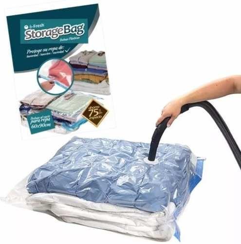 pack 15 bolsas vacio de ropa space bags grande de 60x90