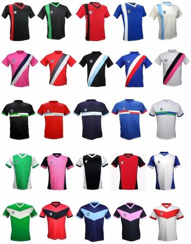 pack 15 camisetas futbol numeradas yakka entrega inmediata