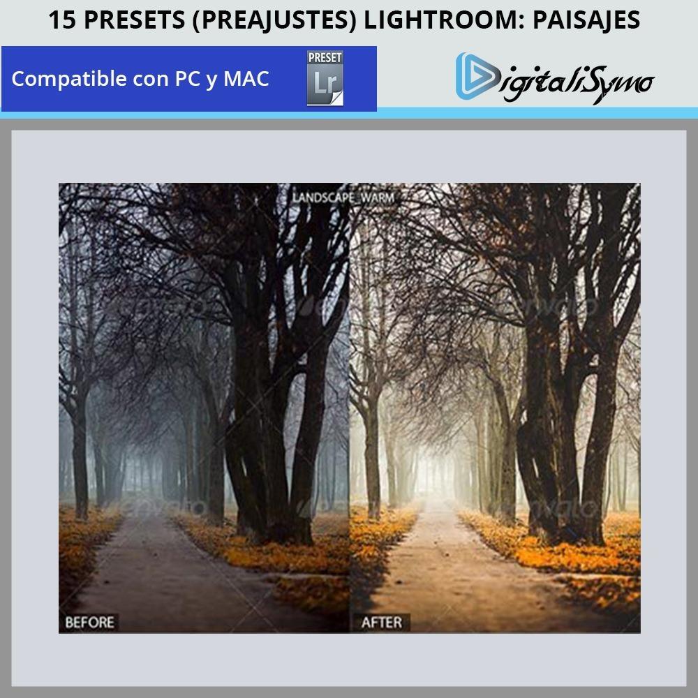 Pack 15 Presets (preajustes) Lightroom - Paisajes Pro - $ 39.00 en ...