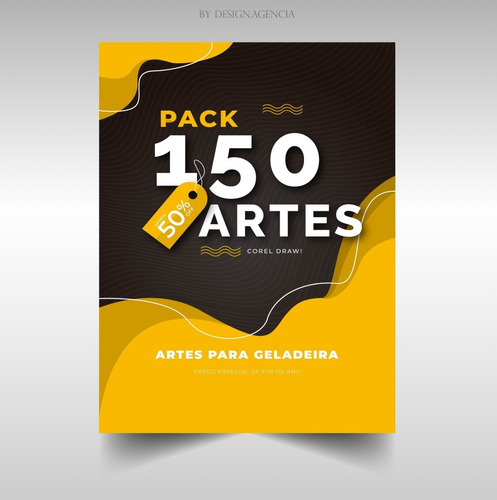 pack 150 artes para geladeira