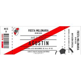 Pack 16 Invitaciones Personalizadas Fútbol River Plate