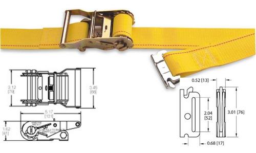 pack 1un riel tipo e kinedyne 3m + 1 crique 50mm x 3.50m