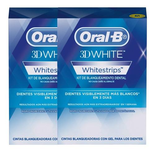 pack 2 14 tira blanqueadoras gel oral-b 3d white whitestrips