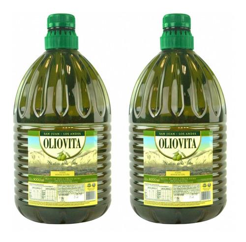 pack 2 aceite de oliva extra virgen oliovita x 5 litros.