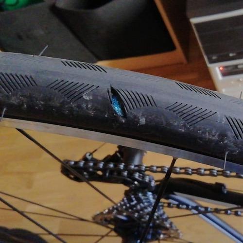 pack 2 bandas antipinchazo fundax p/ bici rutera. 700 *23-28