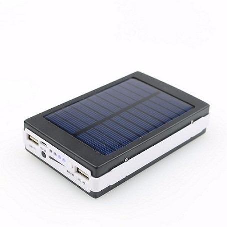 pack 2 baterias externa portatil solar power bank 20.000 mah